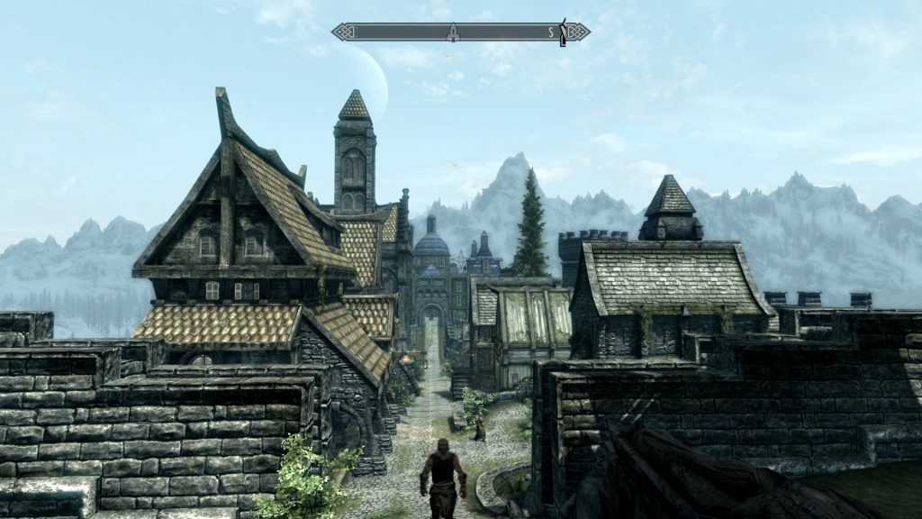 Skyrim Screenshot Town On a Nice Day