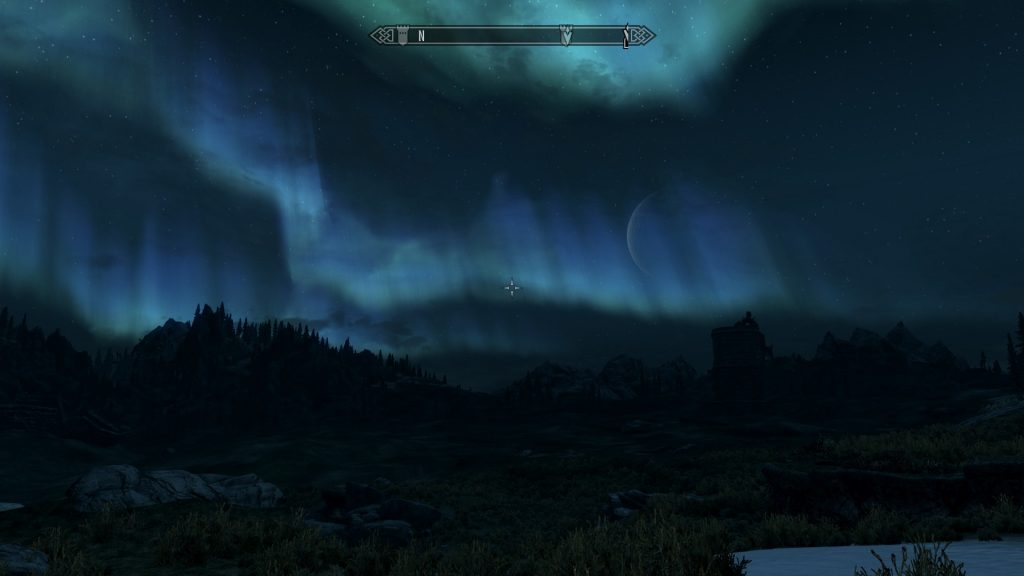 Skyrim Screenshot Night Time Weather Effects