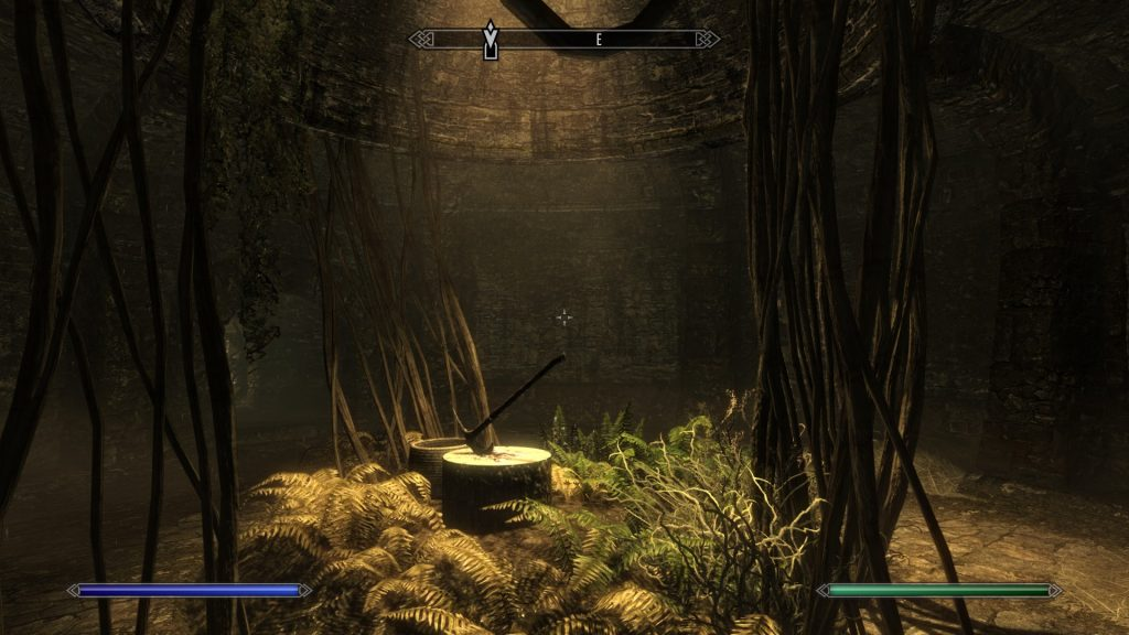 Skyrim Screenshot Axe Chopping Block