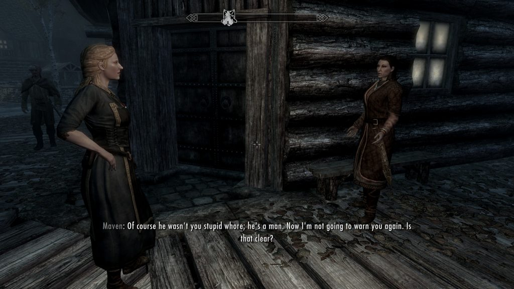 Skyrim Screenshot Angry Ladies