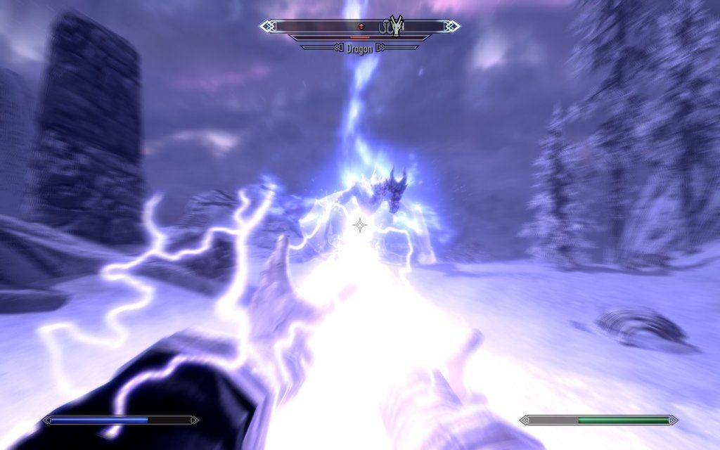 Skyrim Screenshot Lightning Spell