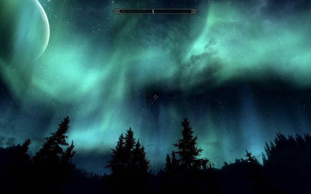Skyrim Screenshot Night Sky