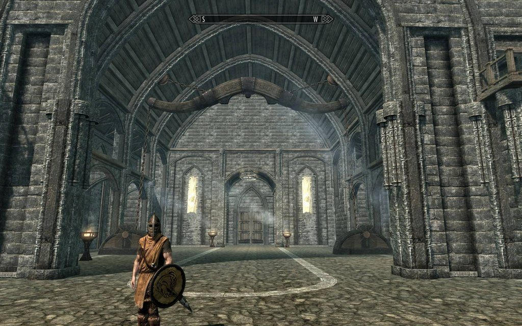 Skyrim Screenshot Big Hall With Guard