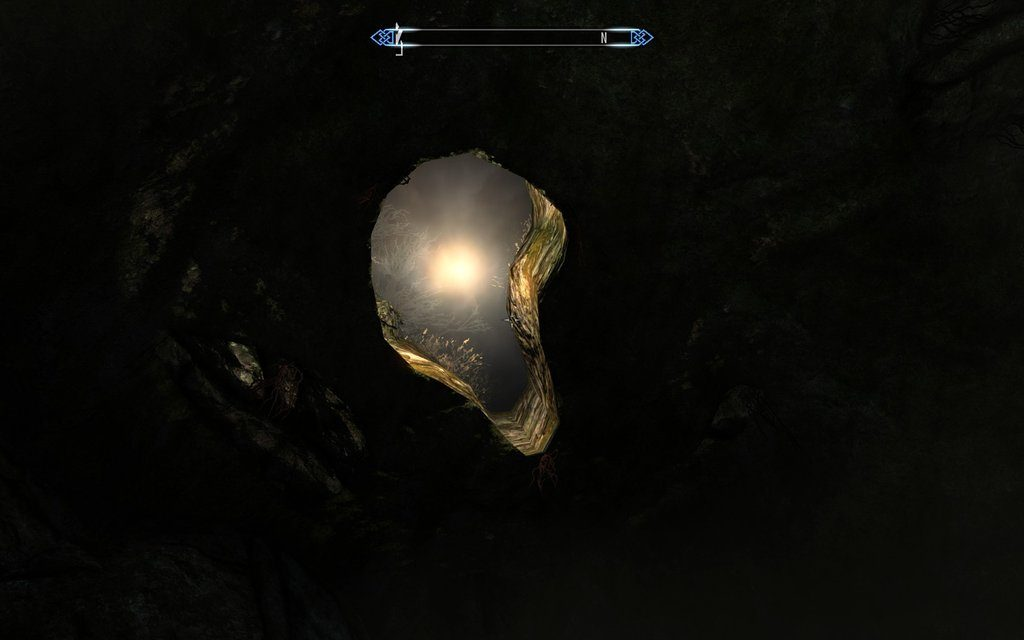 Skyrim Screenshot In the Cave