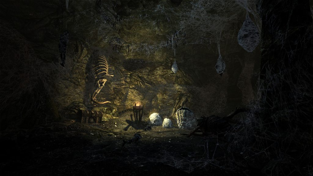 Skyrim Screenshot Treasure in the Spiders Web Nest