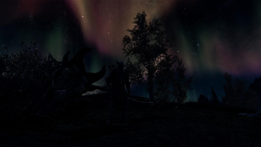 Skyrim Screenshot Stars at Night