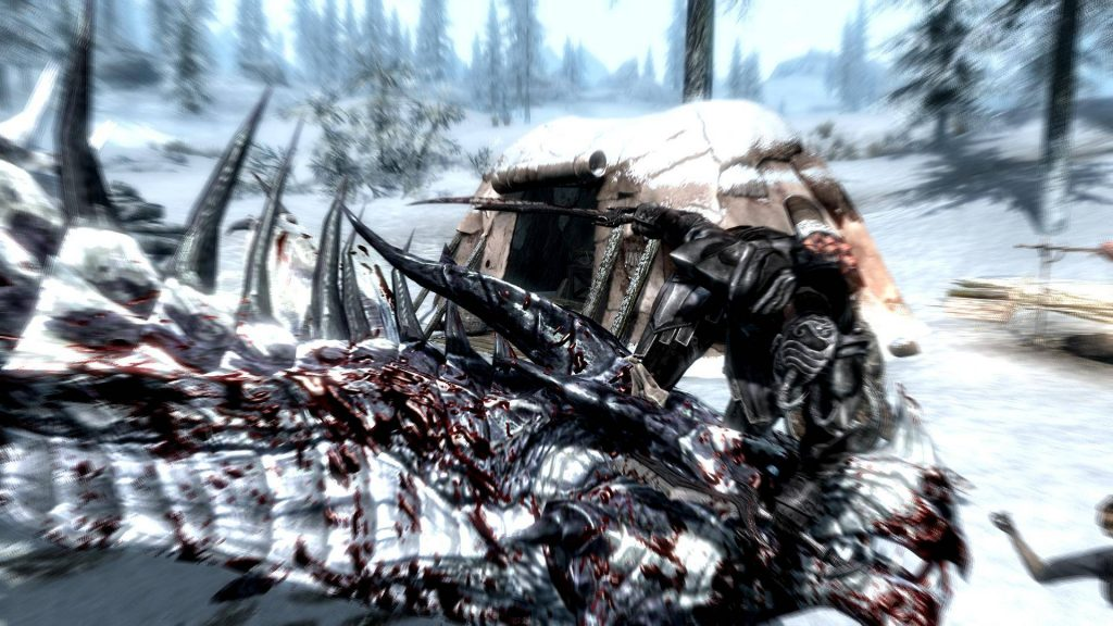Skyrim Screenshot Killing a Walrus