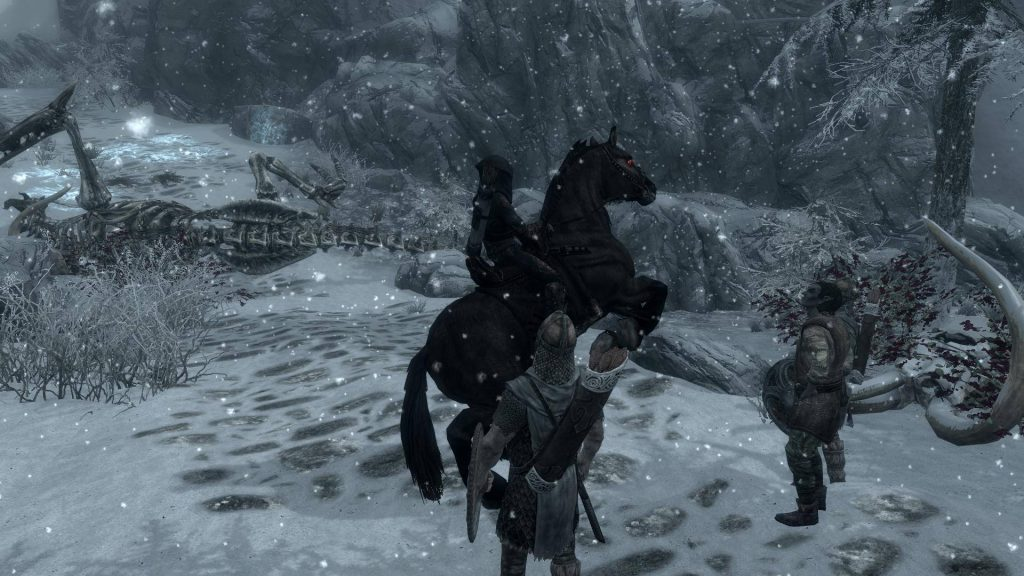 Skyrim Screenshot Control That Horse