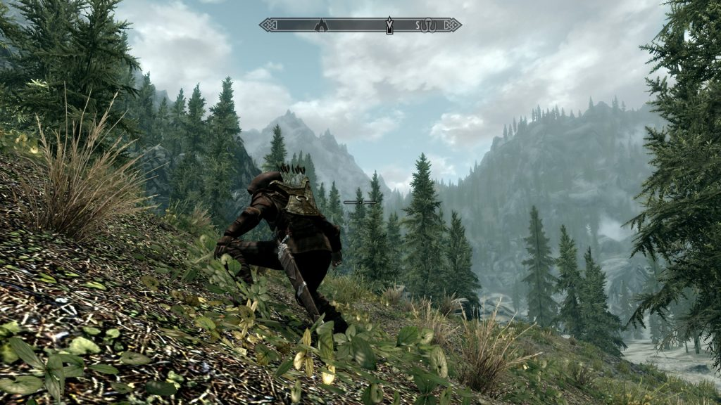 Skyrim Screenshot Sneaking Thief or Ranger
