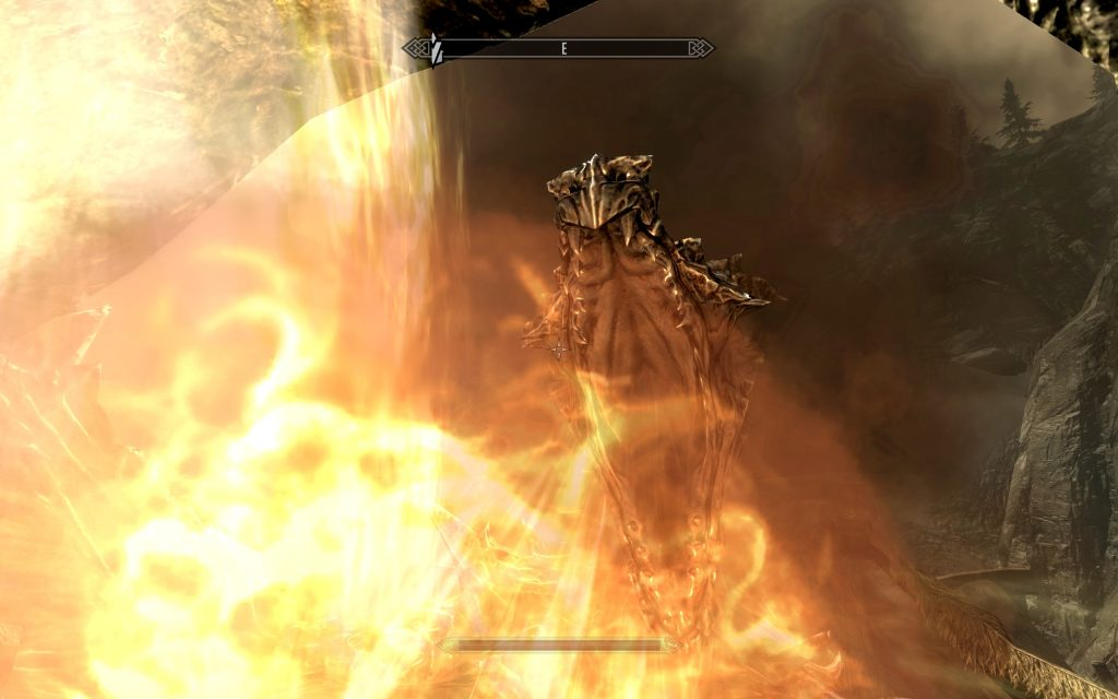 Skyrim Screenshot Dragon Fire Breath