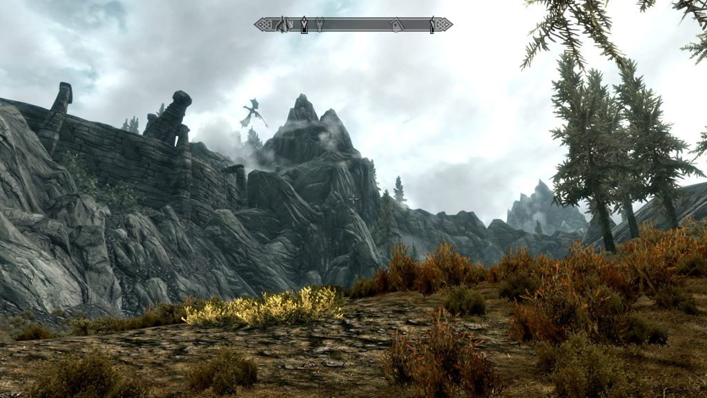 Skyrim Screenshot Dragon Flying