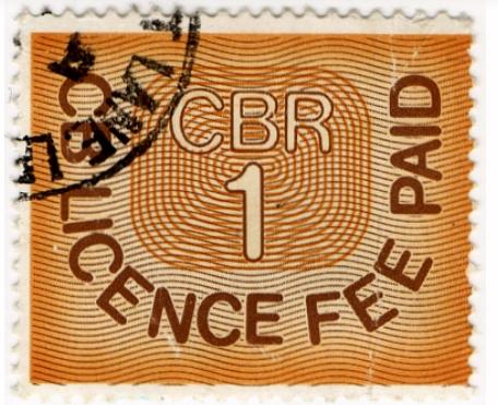CB Radio License Fee Stamp CBR