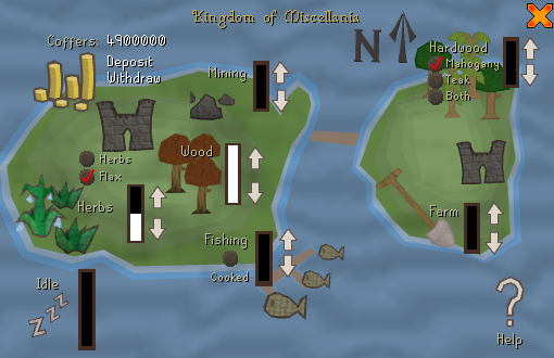 Runescape - Kingdom Example showing how to distribute your workers
