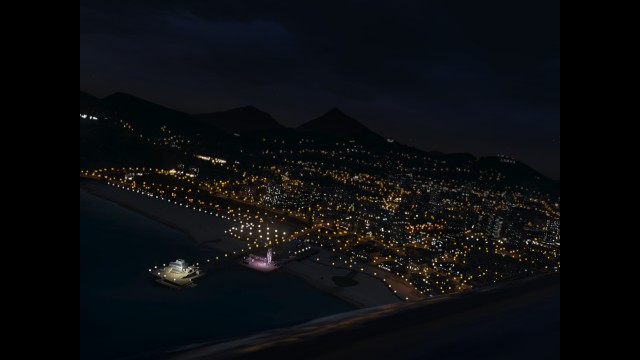 GTA V (GTA 5) Screenshots - Pacific Ocean - View Of Venice Beach From Above
