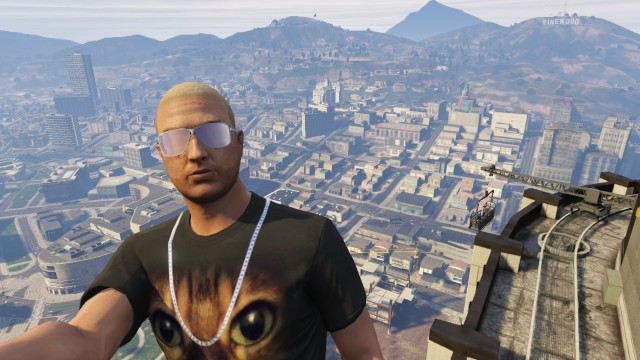 GTA V (GTA 5) Screenshots - Pillbox Hill - Great View From The Top Of A Building