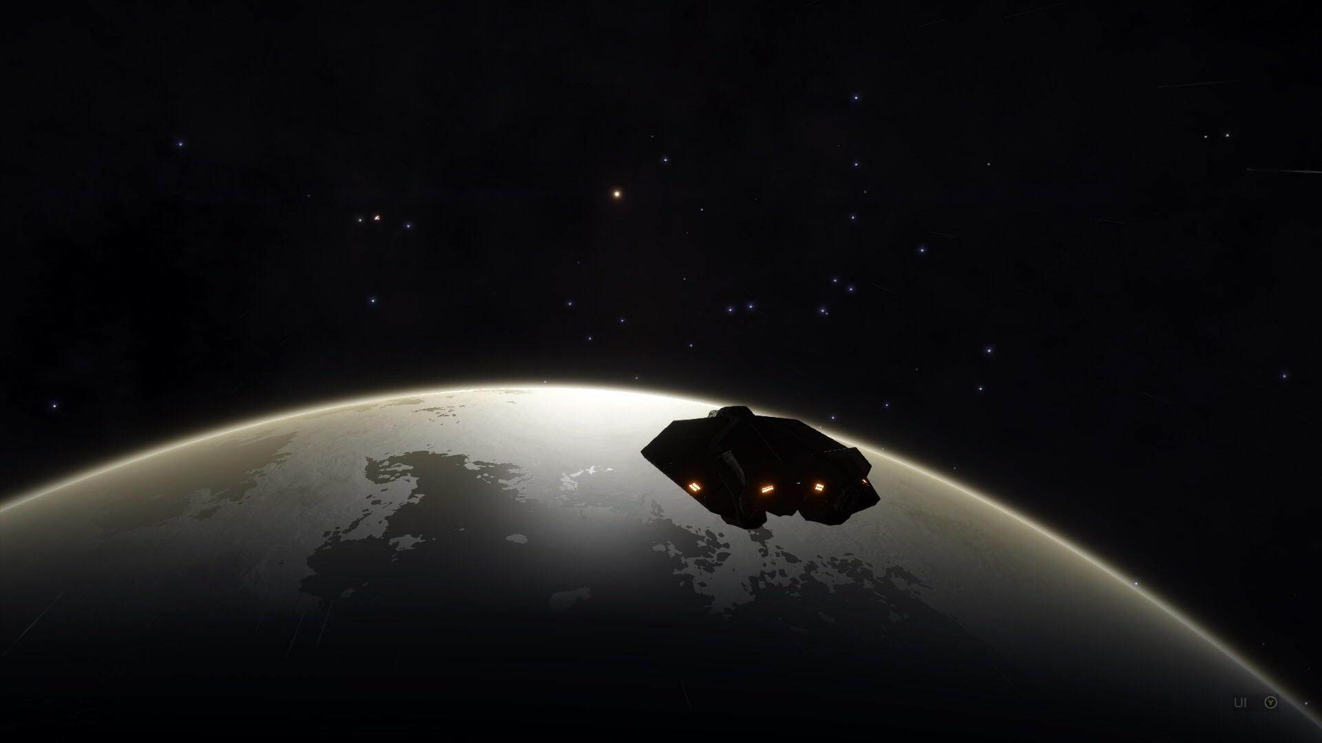 Elite Dangerous Screenshots - Approaching A Planet