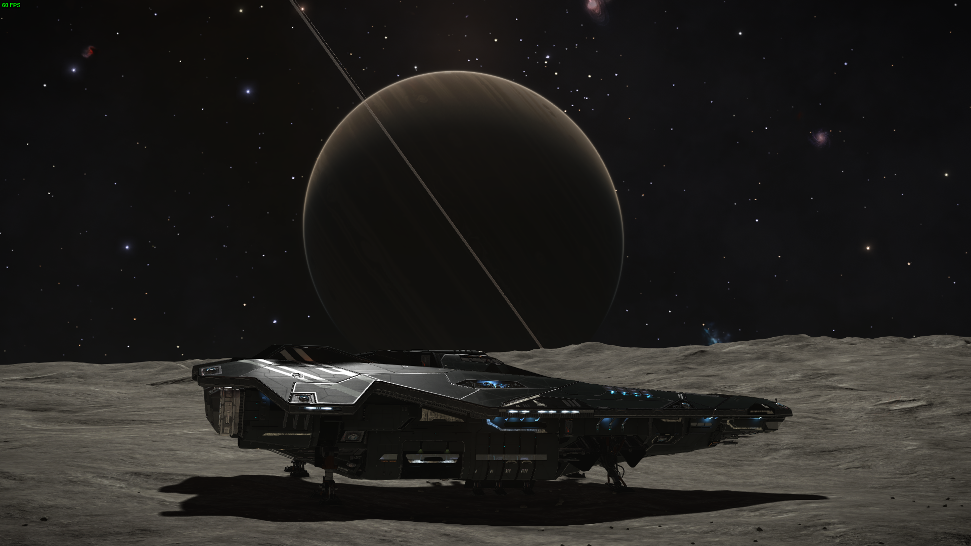 Elite Dangerous Screenshots - Ship Landing On A Planet