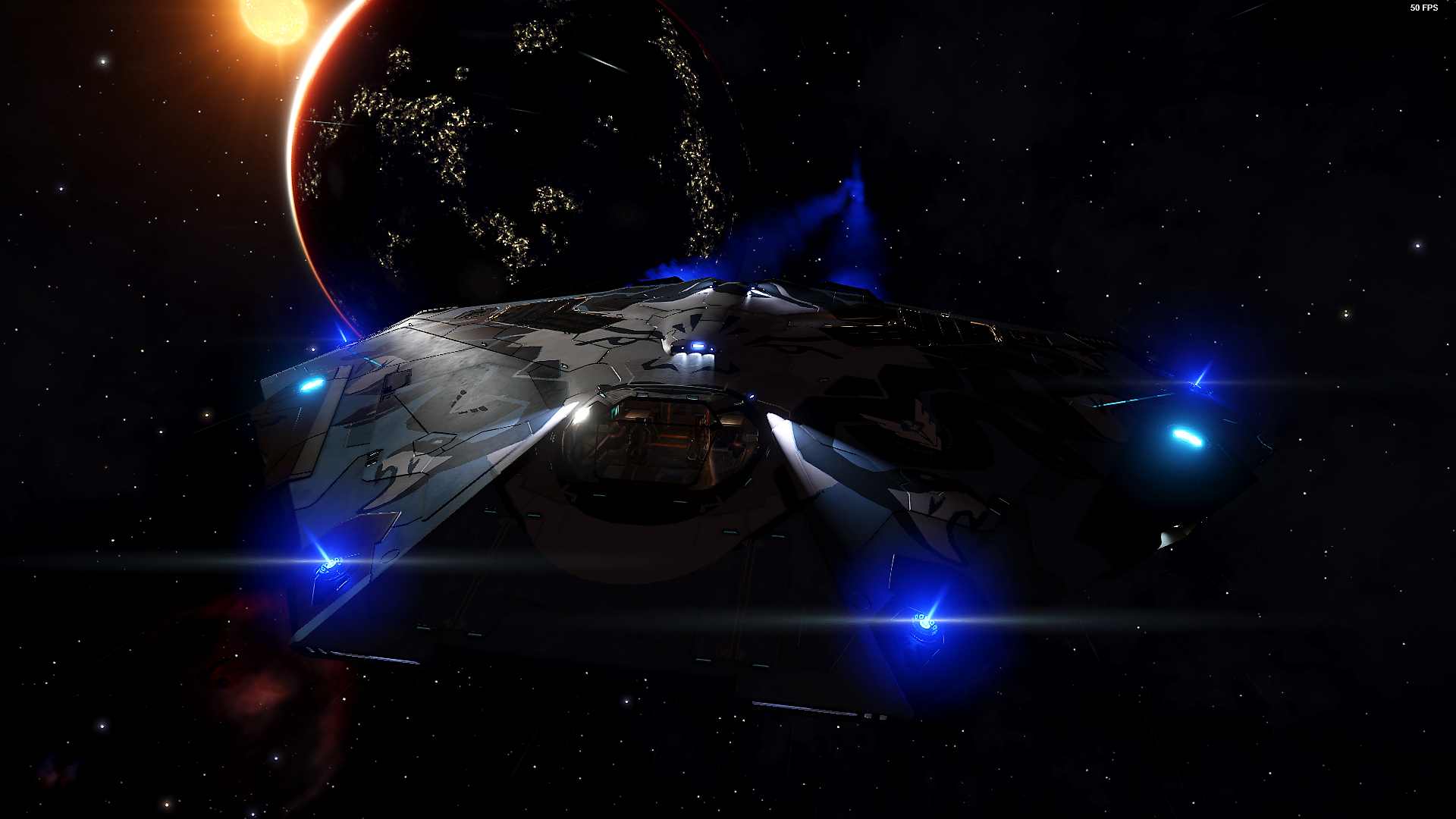 Elite Dangerous Screenshots - Ship With Fancy Thrusters