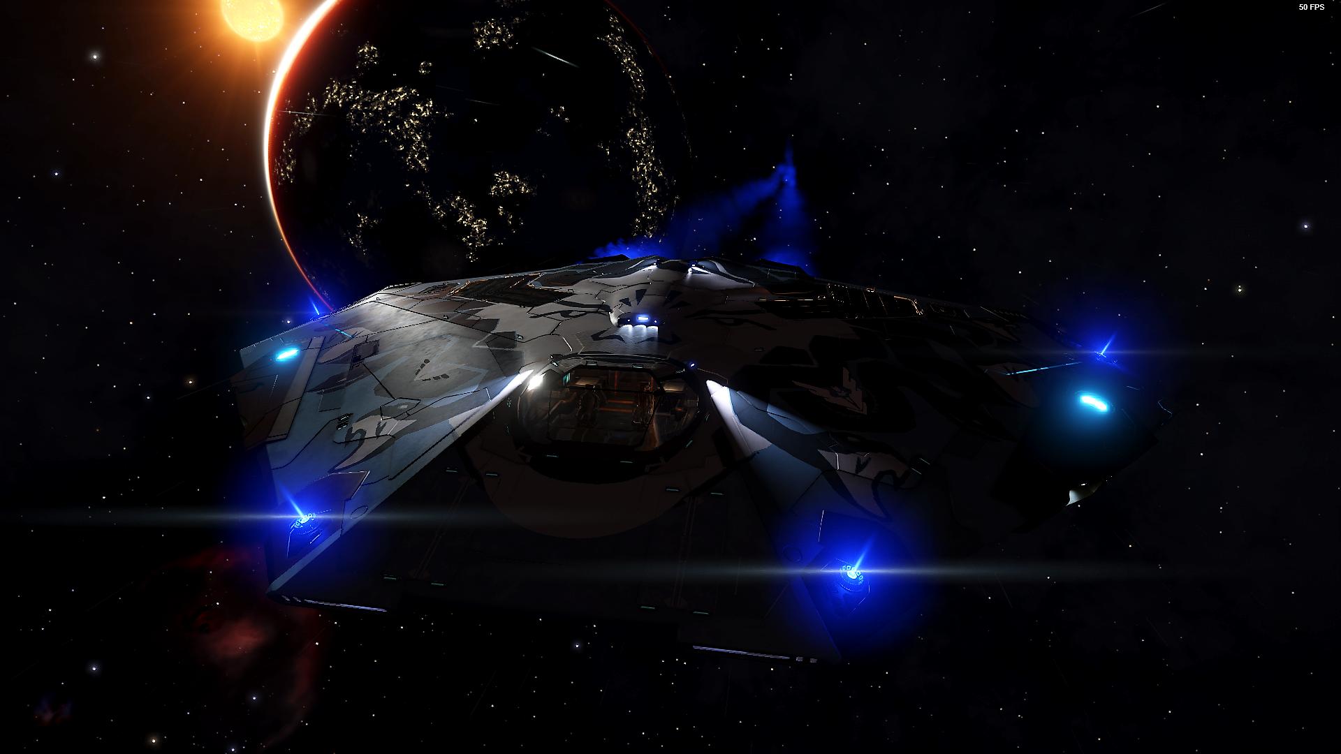 Elite Dangerous Screenshots - Ship With Fancy Thrusters