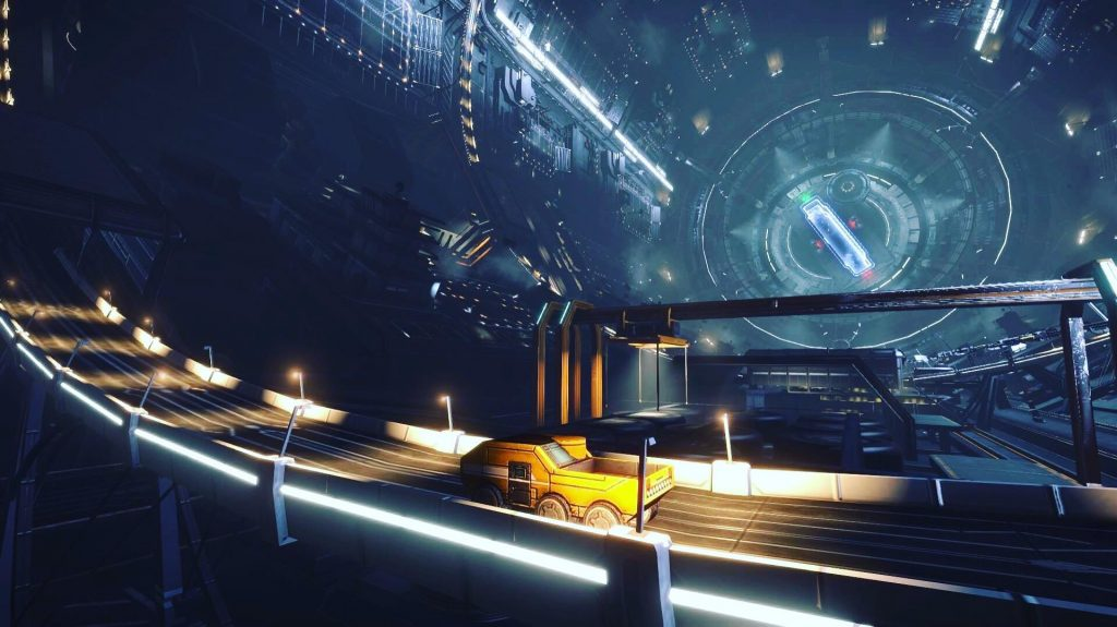 Elite Dangerous Screenshots – Docked Inside The Space Station