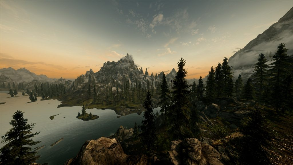 Skyrim Screenshot High Definition Graphics Max View Distance