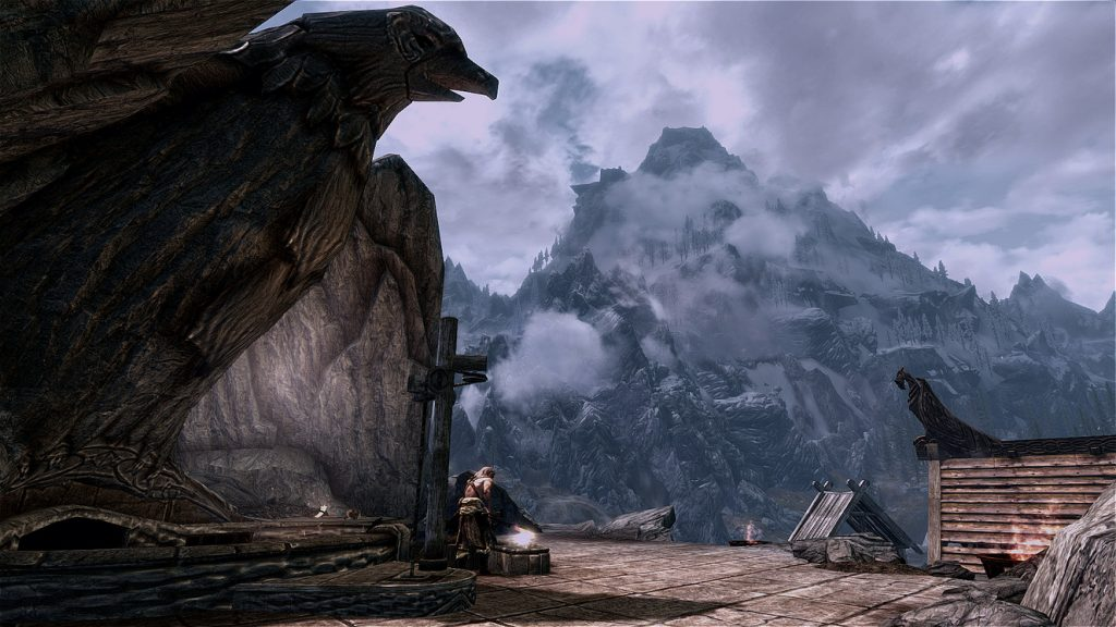 Skyrim Screenshot Eagle Rock Camp