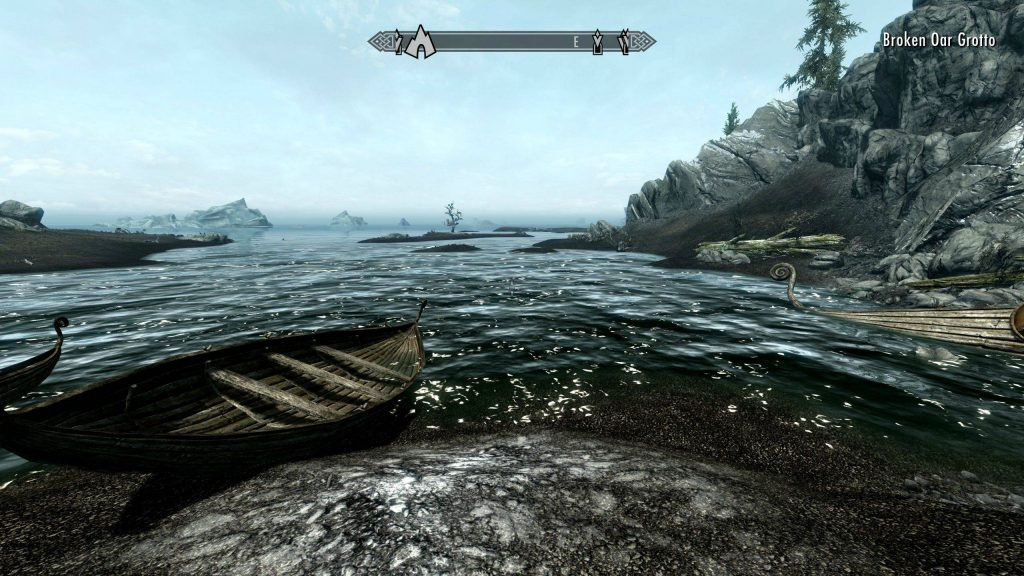 Skyrim Screenshot Getting a Boat Across The Lake