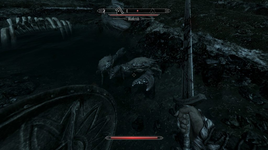 Skyrim Screenshot Bitten By a Mudcrab