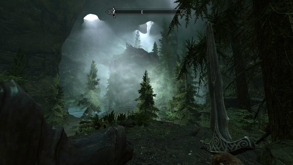 Skyrim Screenshot Forest Inside a Cave Pockets of Light