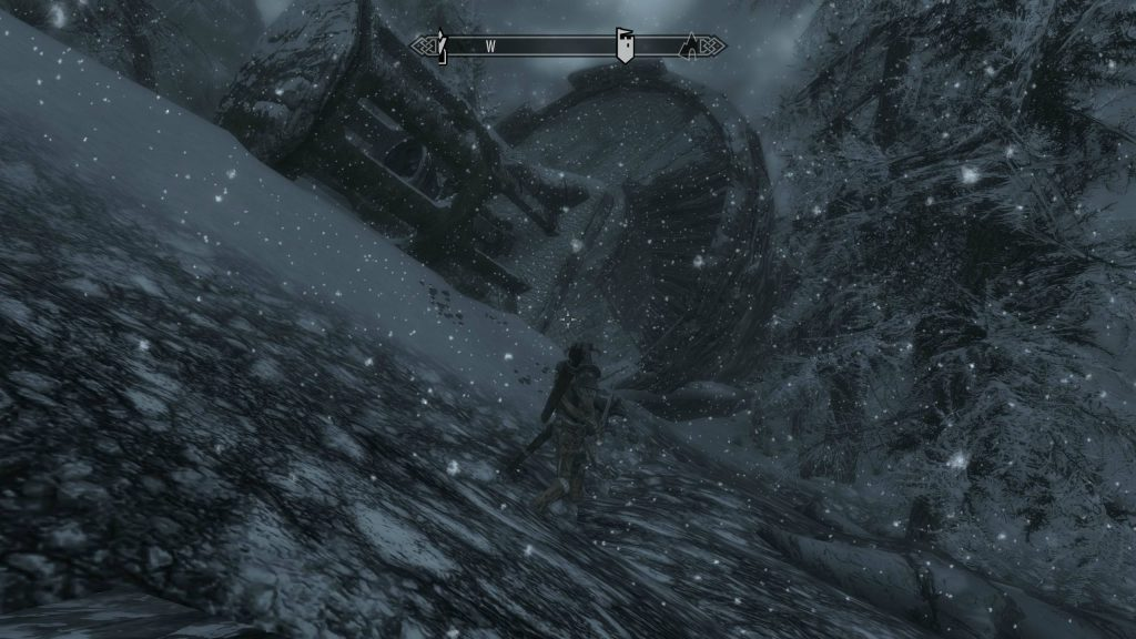 Skyrim Screenshot Snowing On Approach