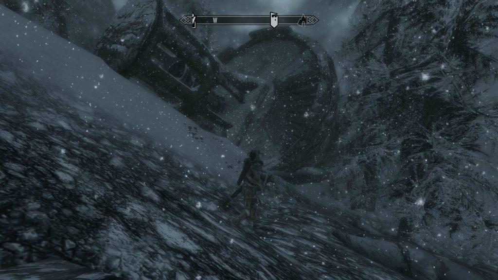 Skyrim Screenshot Snowing On Approach