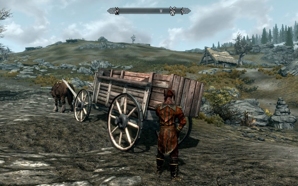 Skyrim Screenshot Loading The Horse and Cart
