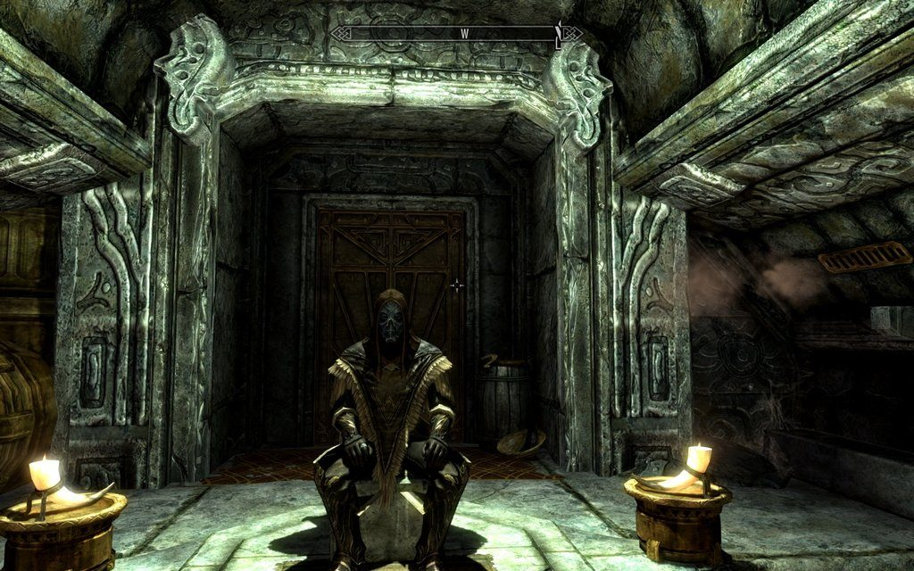 Skyrim Screenshot Sitting on The Throne