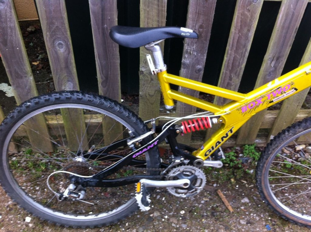 Giant Box Two Freeride Series Mountain Bike Gold, Yellow, Pink