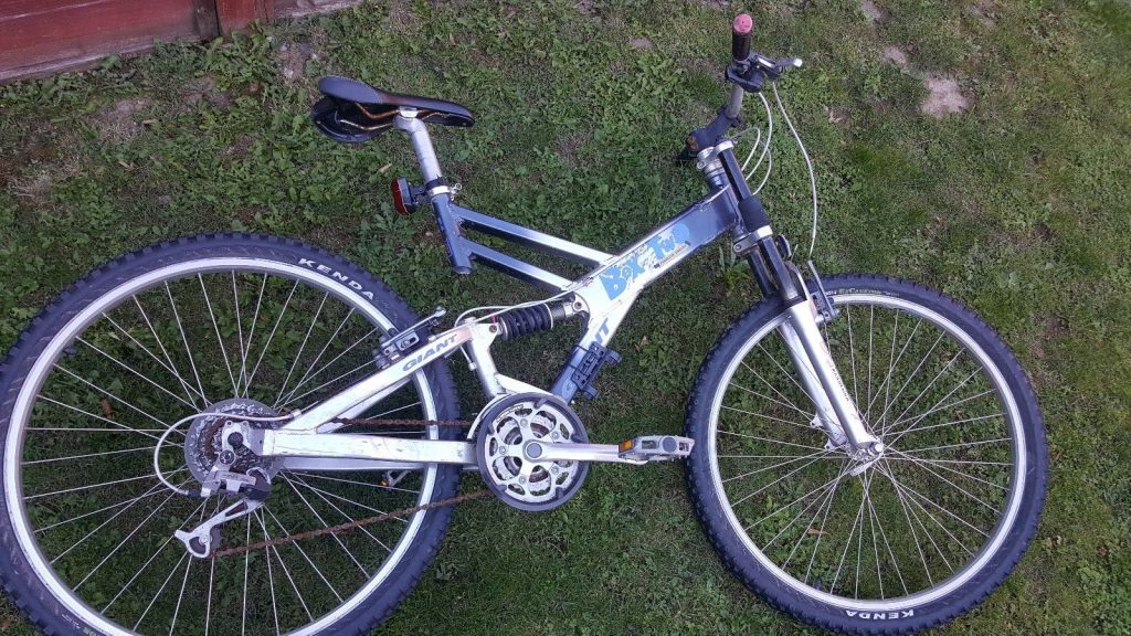 Giant Box Two Freeride Series Mountain Bike Blue, Dark Grey, Silver Frame