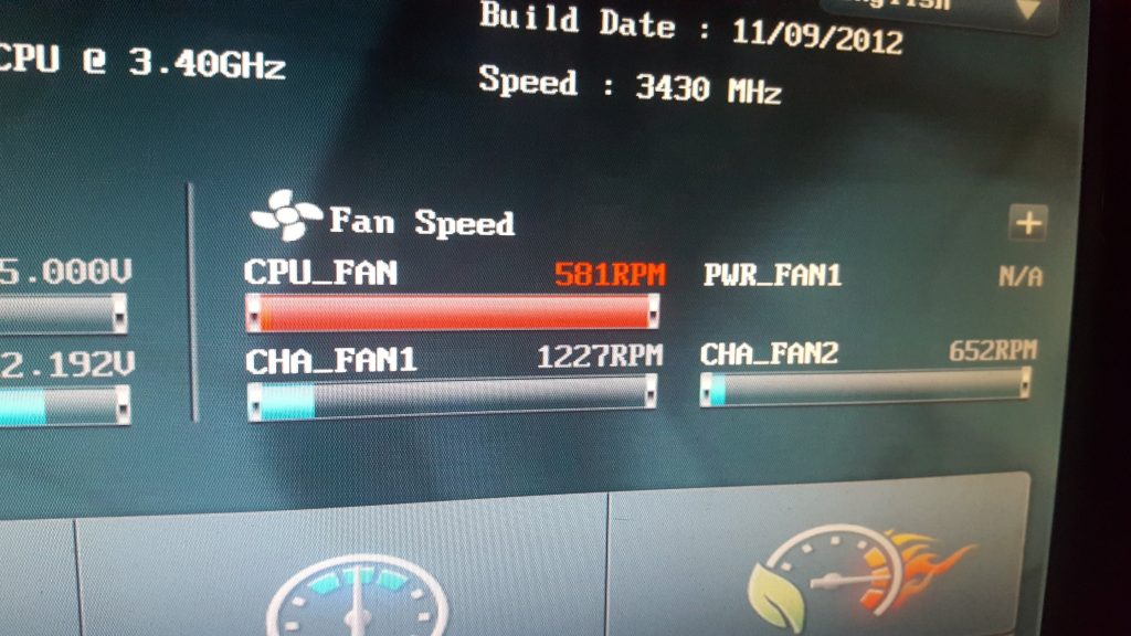 Checking The Fan Speed From BIOS