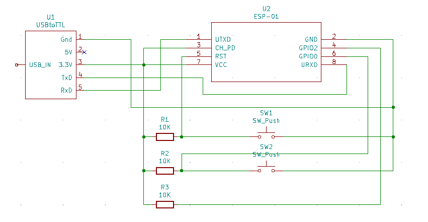 ESP-01 Flashing Schematic