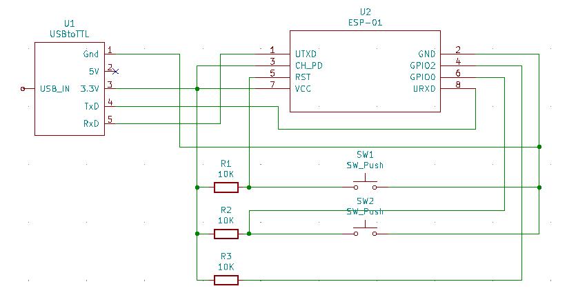ESP-01 Flashing Schematic