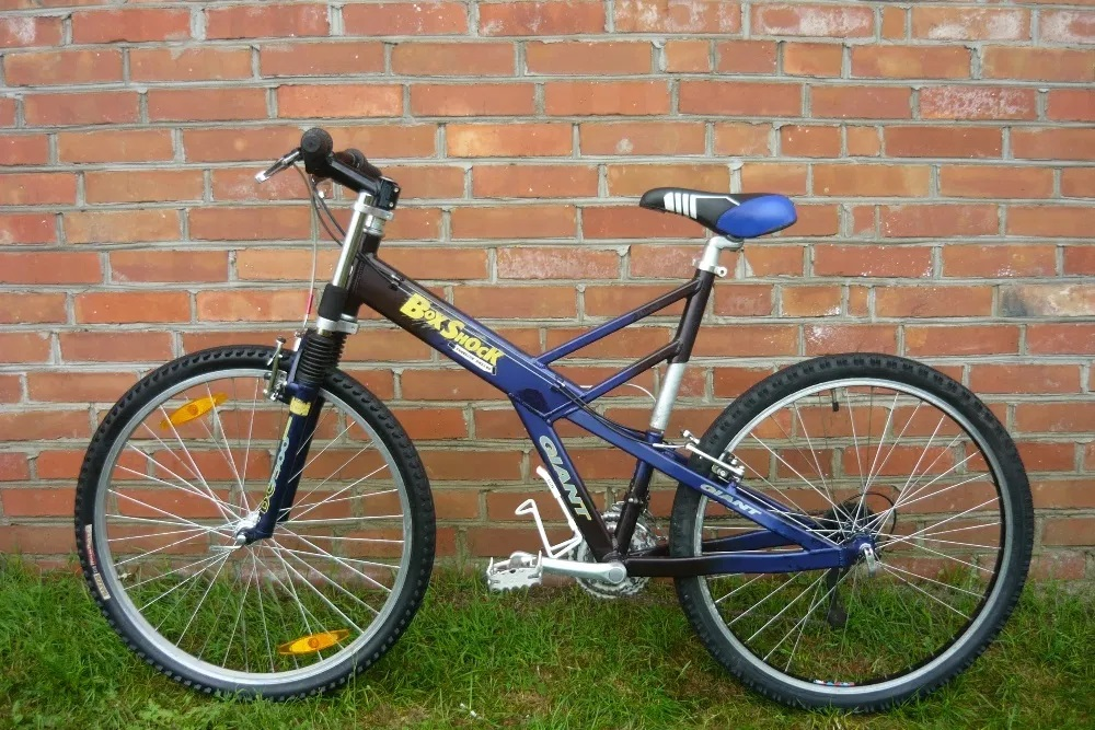 Giant Box Shock Freeride Series Mountain Bike Blue Black Frame