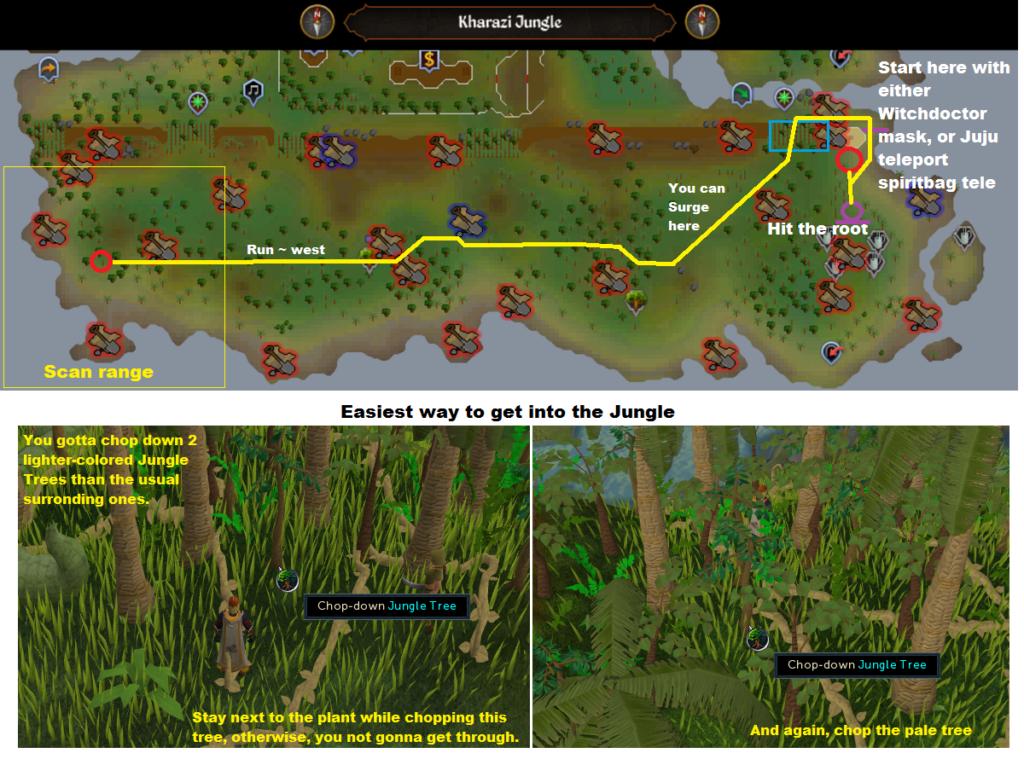 Runescape - Kharazi Jungle - Elite Clue Scan Route