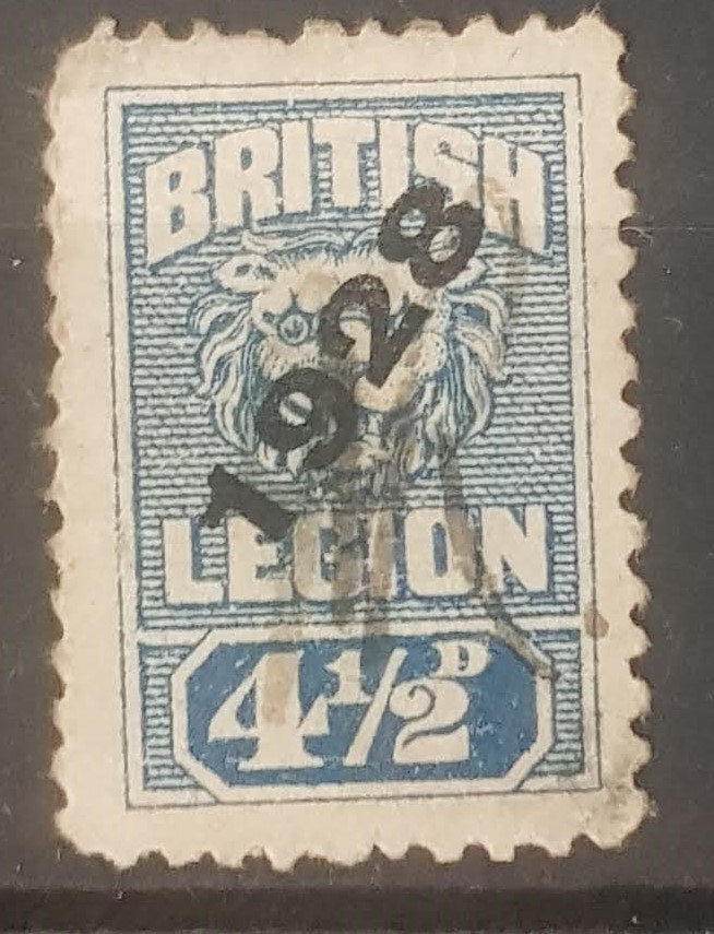 Royal British Legion Blue Stamp 1928